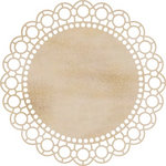 Kaisercraft - Flourishes - Die Cut Wood Pieces - Large Scallop Doilie