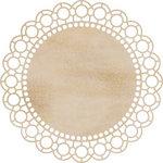 Kaisercraft - Flourishes - Die Cut Wood Pieces - Large Scallop Doilie
