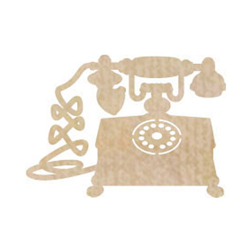 Kaisercraft - Flourishes - Die Cut Wood Pieces - Telephone