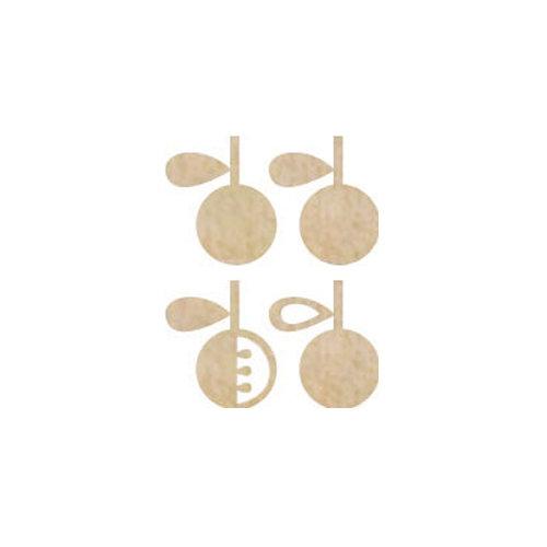 Kaisercraft - Flourishes - Die Cut Wood Pieces - Apple