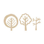 Kaisercraft - Flourishes - Die Cut Wood Pieces - Forest