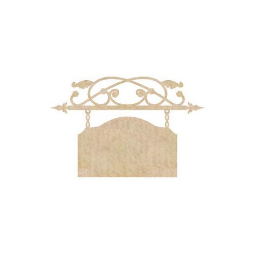 Kaisercraft - Flourishes - Die Cut Wood Pieces - Plaque