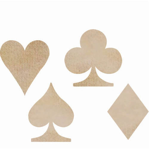 Kaisercraft - Flourishes - Die Cut Wood Pieces - Playing Card Suits