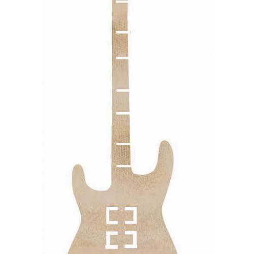 Kaisercraft - Flourishes - Die Cut Wood Pieces - Guitar
