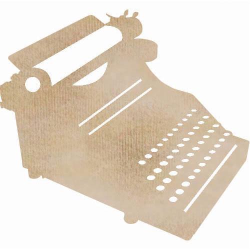 Kaisercraft - Flourishes - Die Cut Wood Pieces - Typewriter
