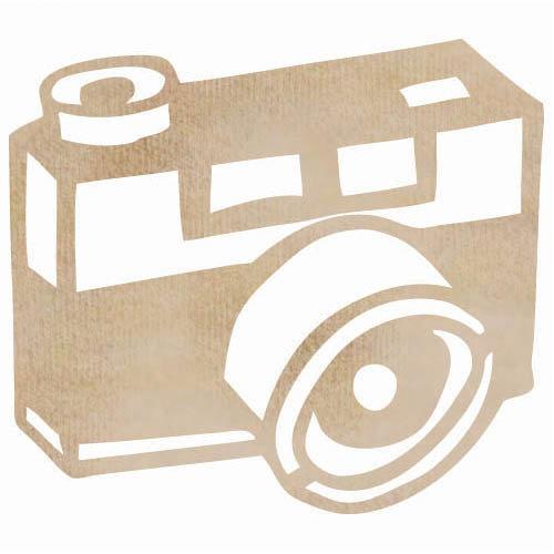 Kaisercraft - Flourishes - Die Cut Wood Pieces - Camera