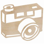 Kaisercraft - Flourishes - Die Cut Wood Pieces - Camera