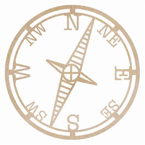 Kaisercraft - Flourishes - Die Cut Wood Pieces - Compass