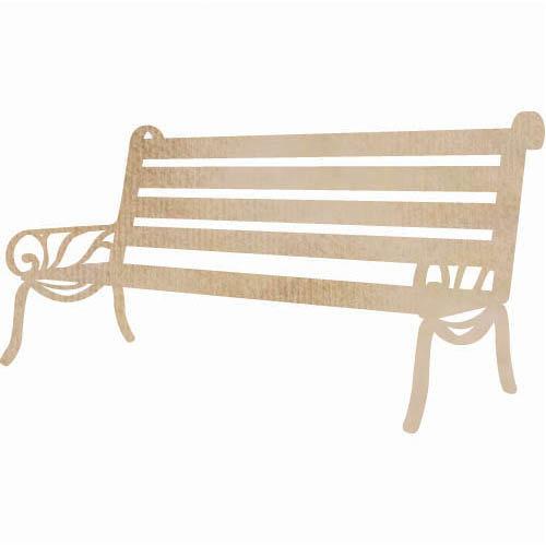 Kaisercraft - Flourishes - Die Cut Wood Pieces - Bench Seat