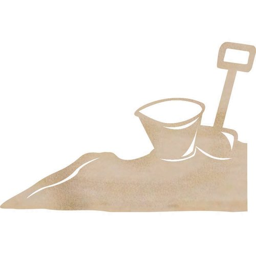 Kaisercraft - Flourishes - Die Cut Wood Pieces - Bucket and Spade