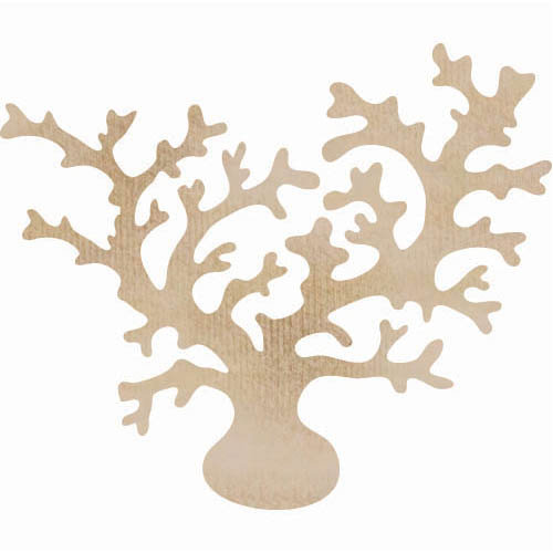 Kaisercraft - Flourishes - Die Cut Wood Pieces - Coral