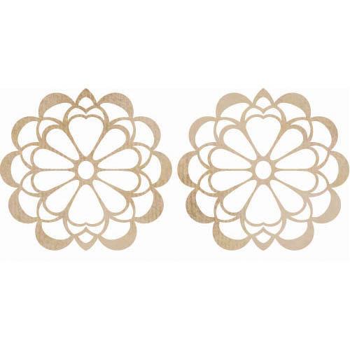 Kaisercraft - Flourishes - Die Cut Wood Pieces - Floral