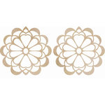 Kaisercraft - Flourishes - Die Cut Wood Pieces - Floral