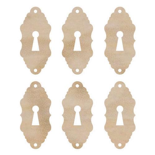 Kaisercraft - Flourishes - Die Cut Wood Pieces - Locks