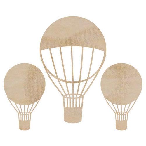 Kaisercraft - Flourishes - Die Cut Wood Pieces - Hot Air Balloons