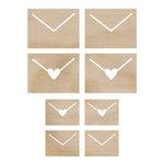 Kaisercraft - Flourishes - Die Cut Wood Pieces - Envelopes