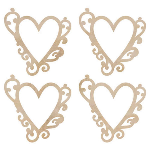 Kaisercraft - Flourishes - Die Cut Wood Pieces - Flourish Hearts