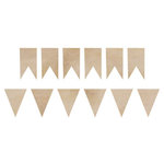 Kaisercraft - Flourishes - Die Cut Wood Pieces - Pennants