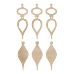 Kaisercraft - Flourishes - Die Cut Wood Pieces - Mini Tear Drop Baubles