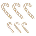 Kaisercraft - Flourishes - Die Cut Wood Pieces - Mini Candy Canes