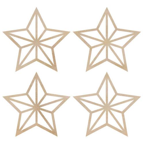 Kaisercraft - Flourishes - Die Cut Wood Pieces - Mini Stars