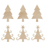 Kaisercraft - Flourishes - Die Cut Wood Pieces - Mini Christmas Trees