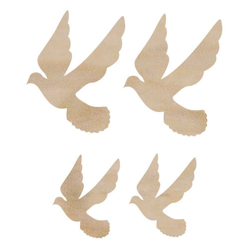 Kaisercraft - Flourishes - Die Cut Wood Pieces - Mini Doves