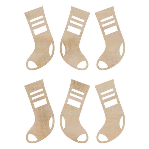 Kaisercraft - Flourishes - Die Cut Wood Pieces - Mini Stockings