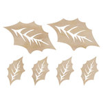 Kaisercraft - Flourishes - Die Cut Wood Pieces - Holly Leaves