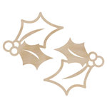 Kaisercraft - Flourishes - Die Cut Wood Pieces - Holly