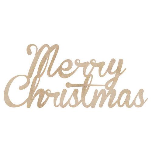 Kaisercraft - Flourishes - Die Cut Wood Pieces - Merry Christmas