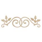Kaisercraft - Flourishes - Die Cut Wood Pieces - Holly Swirl