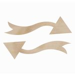 Kaisercraft - Flourishes - Die Cut Wood Pieces - Arrows