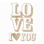 Kaisercraft - Flourishes - Die Cut Wood Pieces - Love You