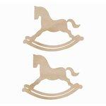 Kaisercraft - Flourishes - Die Cut Wood Pieces - Rocking Horse