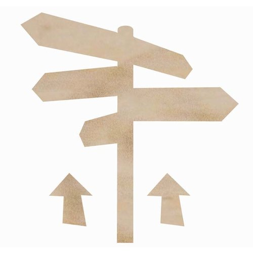 Kaisercraft - Flourishes - Die Cut Wood Pieces - Sign Post