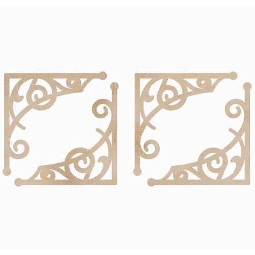 Kaisercraft - Flourishes - Die Cut Wood Pieces - Fancy Corners