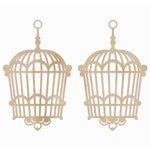Kaisercraft - Flourishes - Die Cut Wood Pieces - Hanging Birdcage