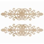 Kaisercraft - Flourishes - Die Cut Wood Pieces - Ornate Plates