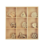 Kaisercraft - Coastal Escape Collection - Flourishes - Die Cut Wood Pieces Pack - Sea Life