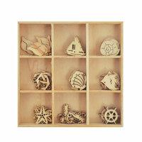 Kaisercraft - Coastal Escape Collection - Flourishes - Die Cut Wood Pieces Pack - Sea Life