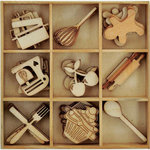 Kaisercraft - Bon Appetit Collection - Flourishes - Die Cut Wood Pieces Pack - Cooking