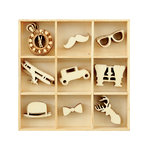 Kaisercraft - Flourishes - Die Cut Wood Pieces Pack - Gentleman