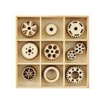 Kaisercraft - Flourishes - Die Cut Wood Pieces Pack - Cogs