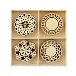 Kaisercraft - Flourishes - Die Cut Wood Pieces Pack - Doilies