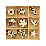 Kaisercraft - Christmas - Flourishes - Die Cut Wood Pieces Pack - Festive
