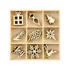 Kaisercraft - Christmas - Flourishes - Die Cut Wood Pieces Pack - Joy