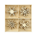 Kaisercraft - Christmas - Flourishes - Die Cut Wood Pieces Pack - Snowflakes