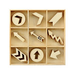 Kaisercraft - Flourishes - Die Cut Wood Pieces Pack - Arrows