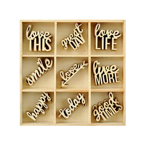 Kaisercraft - Flourishes - Die Cut Wood Pieces Pack - Little Words